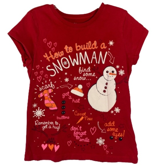 👚4 for $10👚Children's Place Winter Snowman Tee